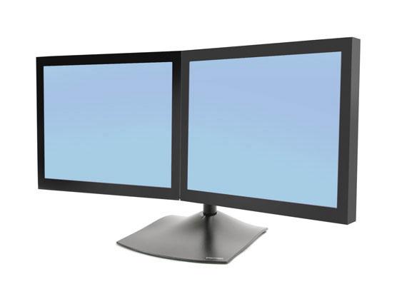 Dual Monitor Horizontal Stand Black