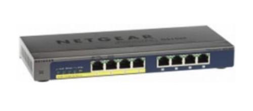 Netgear GS108PP Unmanaged Gigabit Ethernet (10/100/1000) Black Power over Ethernet (PoE)