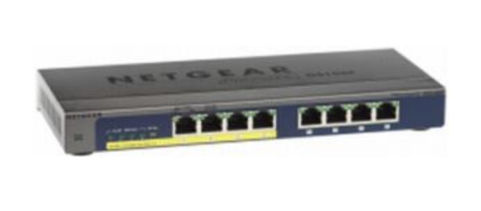 Netgear GS108PP No administrado Gigabit Ethernet (10/100/1000) Negro Energía sobre Ethernet (PoE)