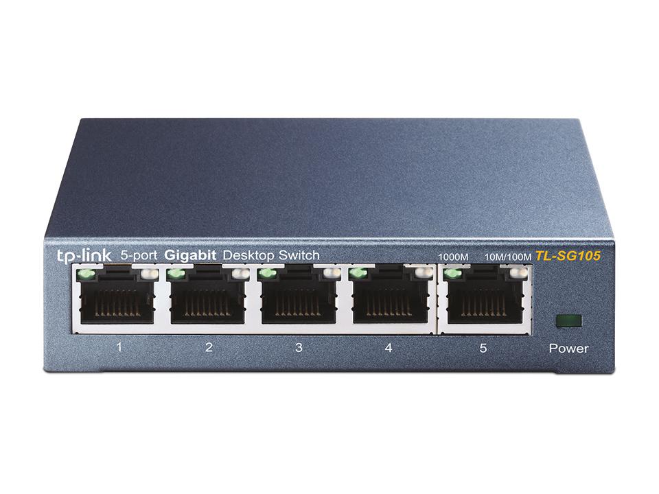 TP-LINK TL-SG105 No administrado Gigabit Ethernet (10/100/1000) Negro