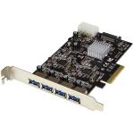 StarTech.com 4 poorts USB 3.1 (10Gbps) kaart 4x USB-A met twee onafhankelijke kanalen PCIe
