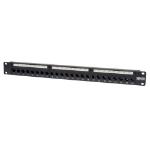 Tripp Lite 24-Port 1U Rack-Mount Cat5e Feedthrough Patch Panel, RJ45 Ethernet patch panel
