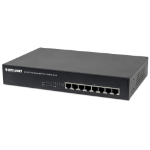 "Intellinet 8-Port Fast Ethernet PoE+ Switch, 4 x PoE IEEE 802.3at/af Power-over-Ethernet (PoE+/PoE) ports, 4 x Standard RJ45 Ports, Endspan, Desktop, 19"" Rackmount (UK 3-pin plug)"