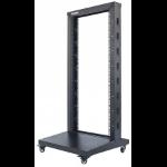 "Intellinet 19"" 2-Post Open Frame Rack, 42U, Max 300kg, Flatpack, Black"