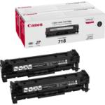 Canon 2662B005 (718BKVP) Toner black, 3.4K pages @ 5% coverage, Pack qty 2