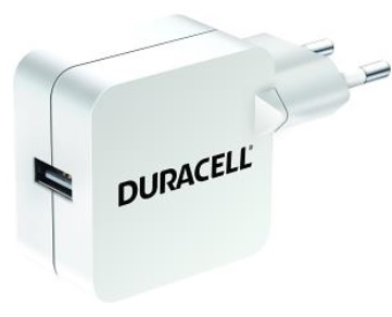 Duracell DRACUSB2W-EU Indoor White mobile device charger