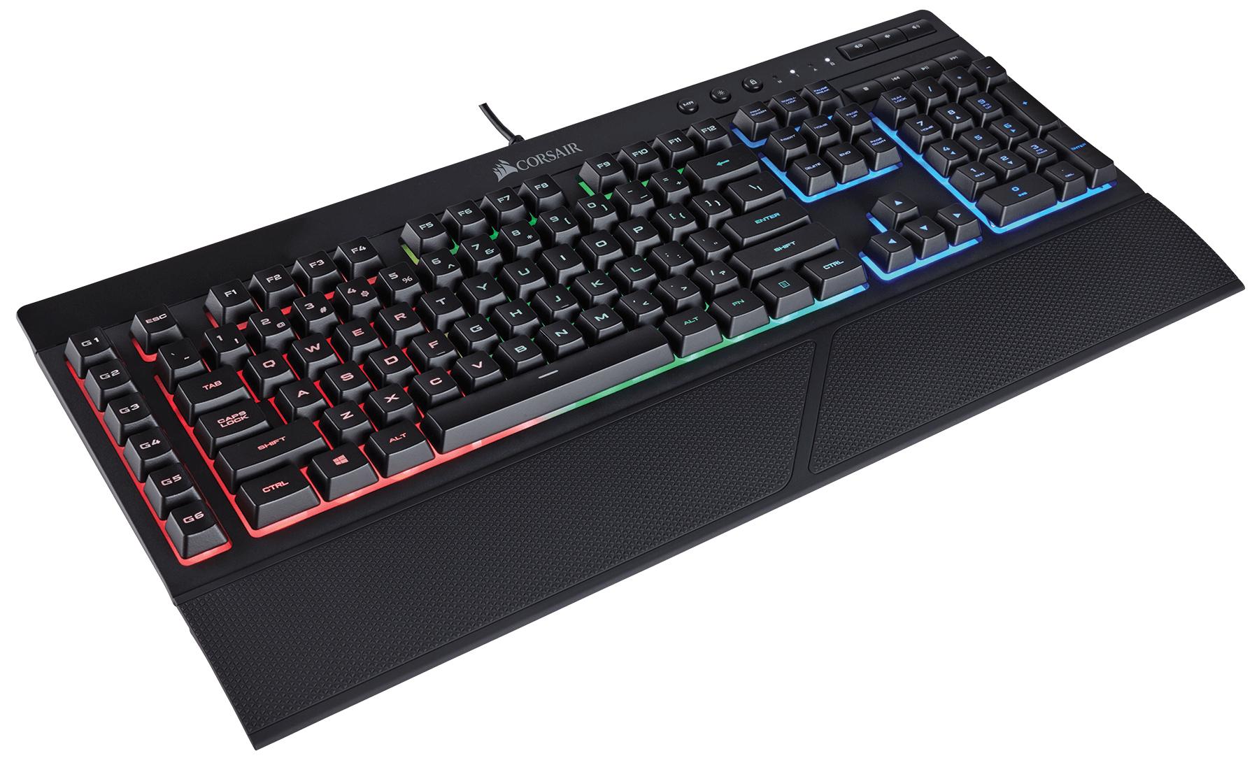 Corsair K55 RGB keyboard USB QWERTY UK English Black