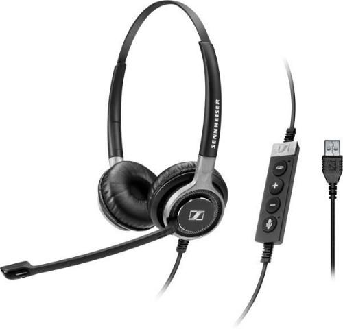 Sennheiser SC 660 USB ML Binaural Head-band Black,Silver