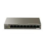 Tenda TEF1109P-8-102W network switch Fast Ethernet (10/100) Metallic Power over Ethernet (PoE)