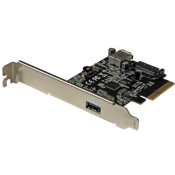 StarTech.com 2-Port USB 3.1 (10Gbps) Card - USB-A, 1x External, 1x Internal - PCIe