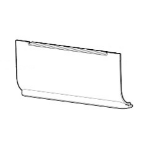 Zebra P1080383-412 printer/scanner spare part Bezel 1 pc(s)