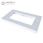 CONNEkT Gear AV Double Faceplate - 4 Module 146 x 86mm Flat Edge - White