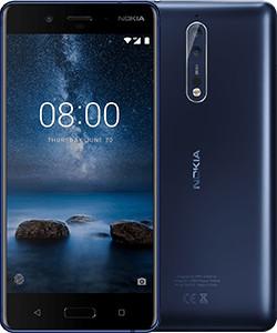 """Nokia 8 5.3"""" 4G 4GB 64GB 3090mAh Blue 11NB1L01A20"""