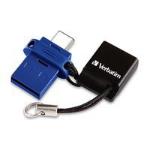 Verbatim Store 'n' Go Dual 64 GB USB flash drive USB Type-A / USB Type-C 3.0 (3.1 Gen 1) Blue