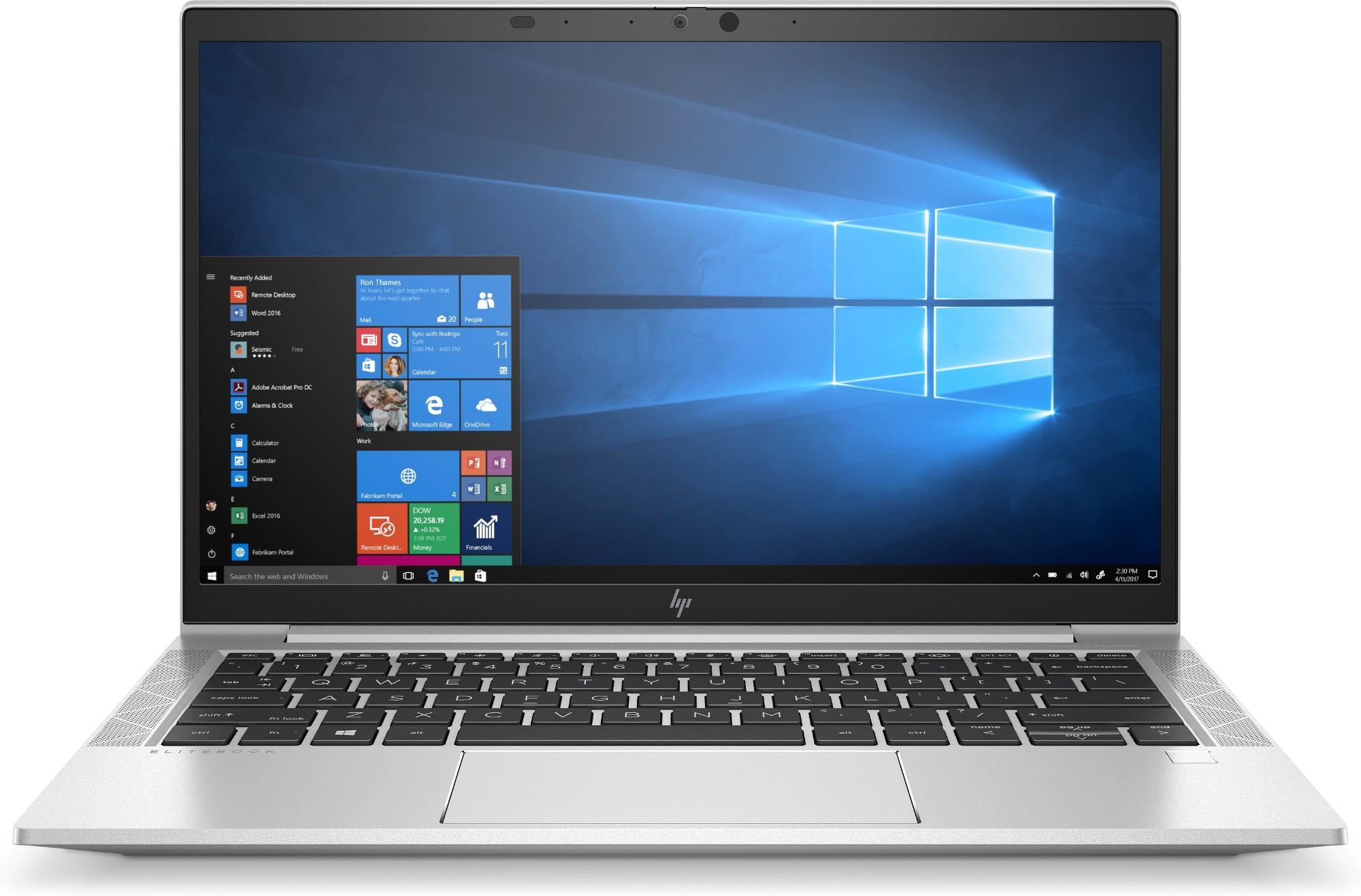 "HP EliteBook 830 G7 Notebook 33.8 cm (13.3"") Full HD 10th gen Intel-� Core��� i5 8 GB DDR4-SDRAM 256 GB SSD Wi-Fi 6 (802.11ax) Windows 10 Pro Silver"
