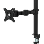 "Vision VFM-DP 30"" Clamp Black flat panel desk mount"