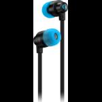 Logitech G G333 Kopfhörer im Ohr 3.5 mm connector USB Typ-C Blau, Cyan