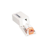C2G Keystone Jack Surface Mount Box 1-Port White network splitter
