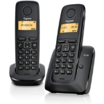 Gigaset A120 Duo DECT telephone Black Caller ID