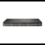 Hewlett Packard Enterprise Aruba 6200F 48G Class4 PoE 4SFP+ 370W Managed L3 Gigabit Ethernet (10/100/1000) Black 1U Power over Ethernet (PoE)