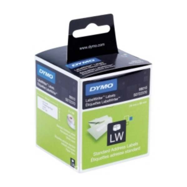 DYMO 99010 (S0722370) DirectLabel-etikettes, 89mm x28mm, Pack qty 2