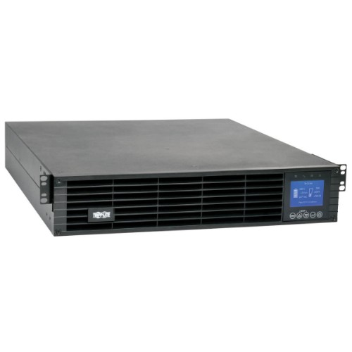 Tripp Lite UPS Smart Online 1000VA 900W 208V / 230V Double-Conversion, 6 Outlets, Extended Run, WEBCARDLX, LCD, USB, DB9, 2U Rackmount