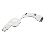 Ednet 31010 mobile phone cable micro USB B, mini USB B, USB A Apple 30pin White 0.75 m