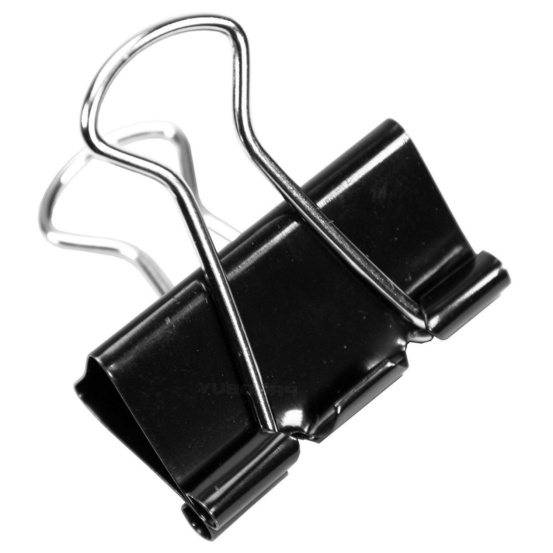 Whitecroft Essentials Value Foldback Clips 19mm Black PK50