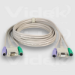 Videk SVGA/PS2 Monitor Mouse Keyboard Extension Cable Set 2m KVM cable