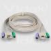 Videk SVGA/PS2 Monitor Mouse Keyboard Extension Cable Set 2m 2m KVM cable