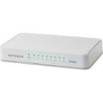Netgear GS208 Gigabit Ethernet (10/100/1000) Wit