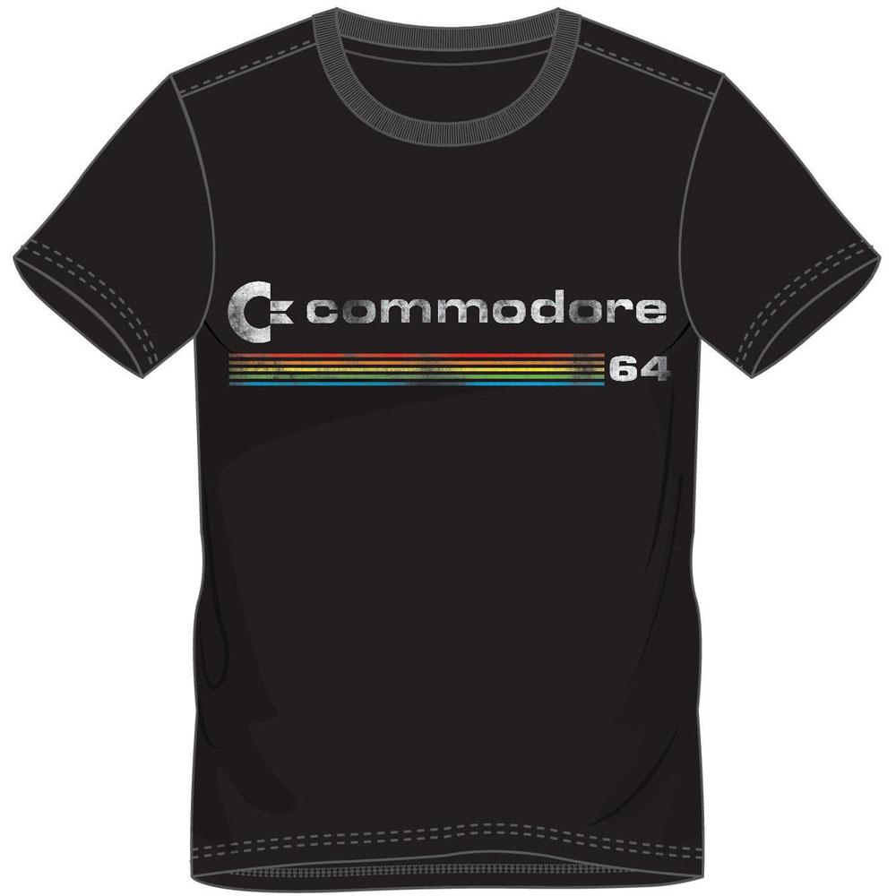 COMMODORE 64 Men's Logo T-Shirt, Small, Black (TS878446C64-S)