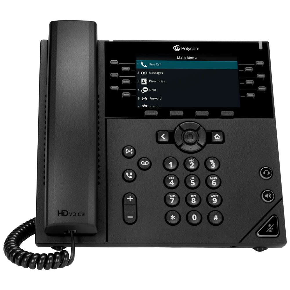 POLY VVX 450 OBi Edition teléfono IP Negro Terminal con conexión por cable LCD 12 líneas