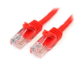 StarTech.com Cable de 3m Rojo de Red Fast Ethernet Cat5e RJ45 sin Enganche - Cable Patch Snagless