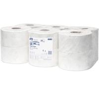 TORK Advanced Mini Jumbo Toilet Roll 2-ply White Ref 120238 [Pack 12]