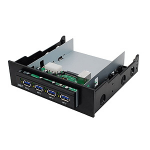 Siig JU-H40212-S1 interface hub 5000 Mbit/s Black