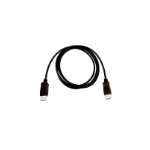 V7 Black Video Cable Pro DisplayPort Male to DisplayPort Male 2m 6.6ft