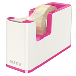 Leitz WOW Polystyrene Metallic,Pink tape dispenser