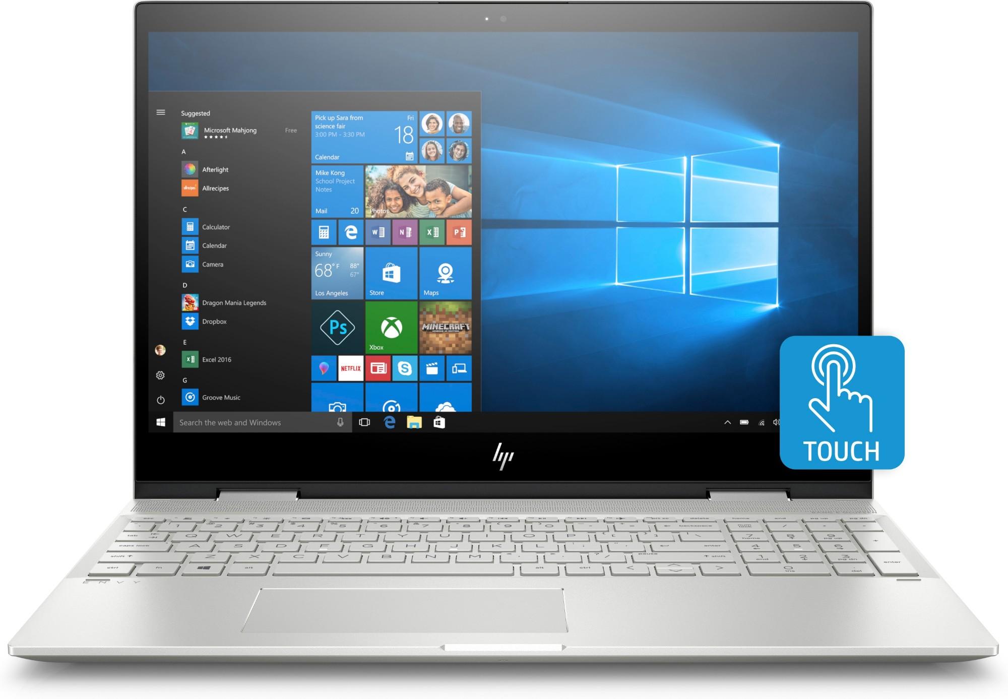 "HP ENVY x360 15-cn0000na Silver Hybrid (2-in-1) 39.6 cm (15.6"") 1920 x 1080 pixels Touchscreen 8th gen Intel® Core™ i5 i5-8250U 8 GB DDR4-SDRAM 256 GB SSD"