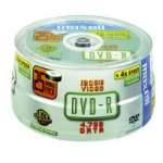 Maxell DVD-R 4.7GB 8x Spindle 25pk 25 pc(s)