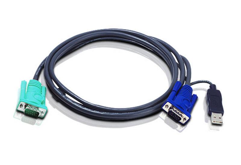 Aten 2L5201U 1.2m Black KVM cable