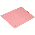 Concord Subject Dividers 160gsm Oblong 5-Part A3 Ref 70399/J3