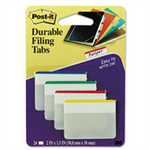 Post-It Tabs, 2 inch Lined, Assorted Primary Colors, 6/Color, 4 Colors, 24/Pk self adhesive tab Beige,Green,Red,Yellow