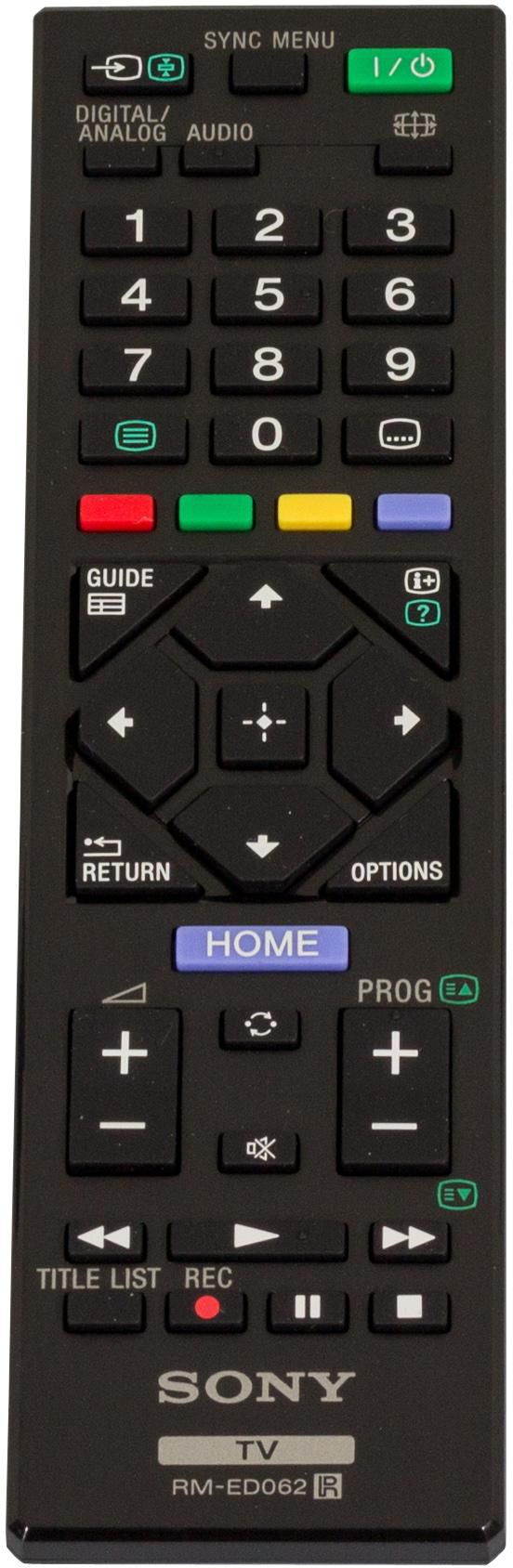 Sony REMOTE (RM-ED062) TCN 17TV018