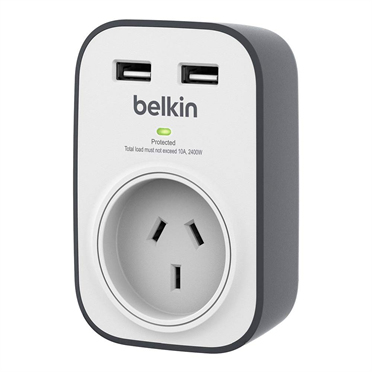 Belkin SurgeCube 1AC outlet(s) Grey,White surge protector