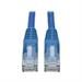 Tripp Lite Cat6 Gigabit Snagless Molded Patch Cable (RJ45 M/M) - Blue, 12-ft.