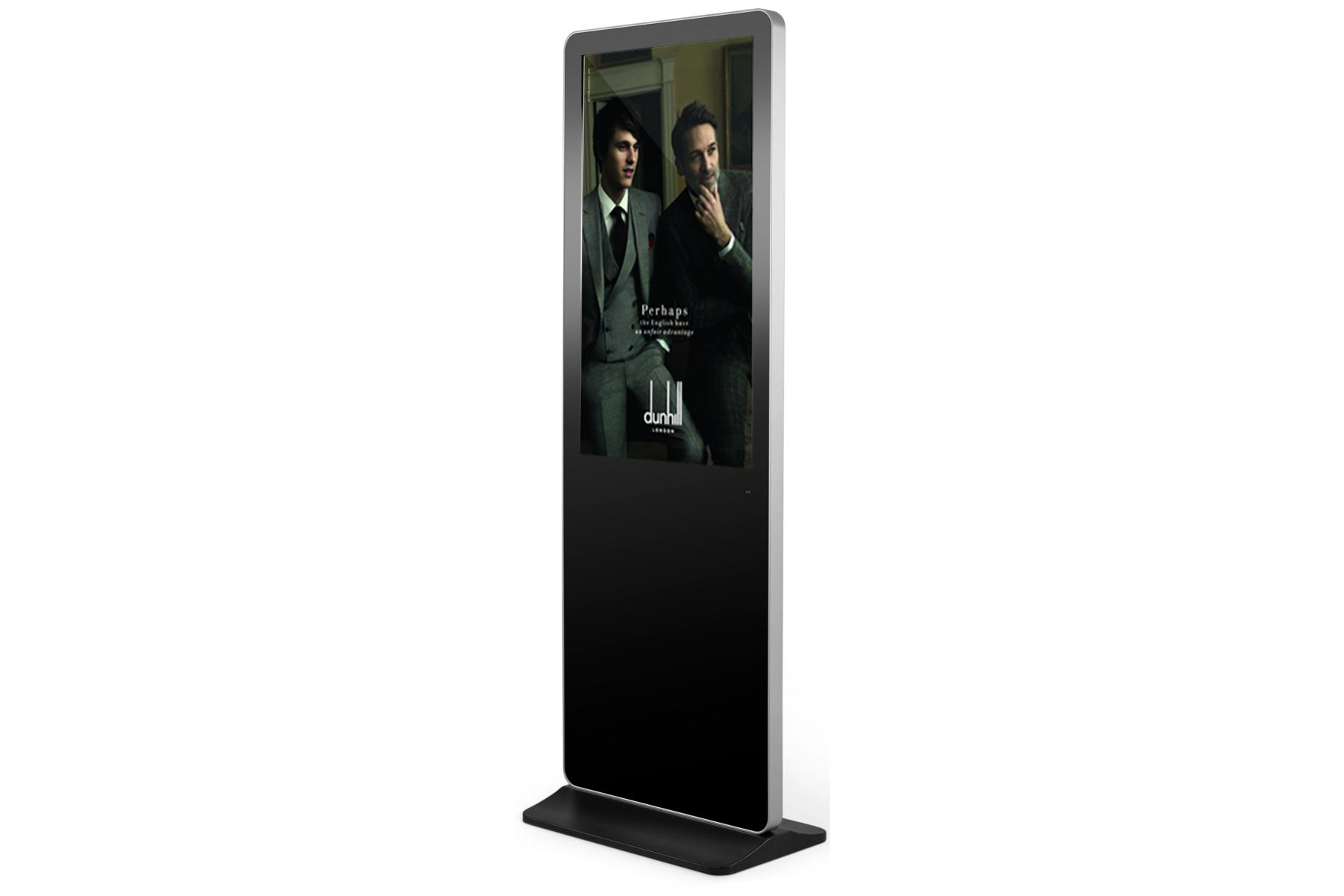 """Bauer BD49P81K signage display 123.2 cm (48.5"""") LED Full HD Kiosk design Black,Silver"""