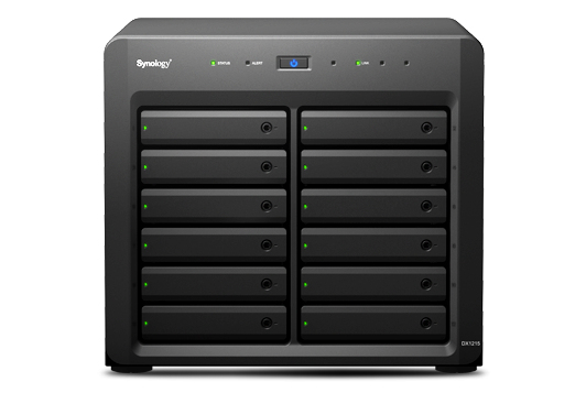 Synology DX1215 Desktop Black disk array