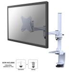 """Newstar Full Motion Desk Mount (clamp) for 10-30"""" Monitor Screen, Height Adjustable - White"""