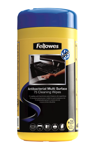 Fellowes 2210913 equipment cleansing kit Equipment cleansing wipes Universal